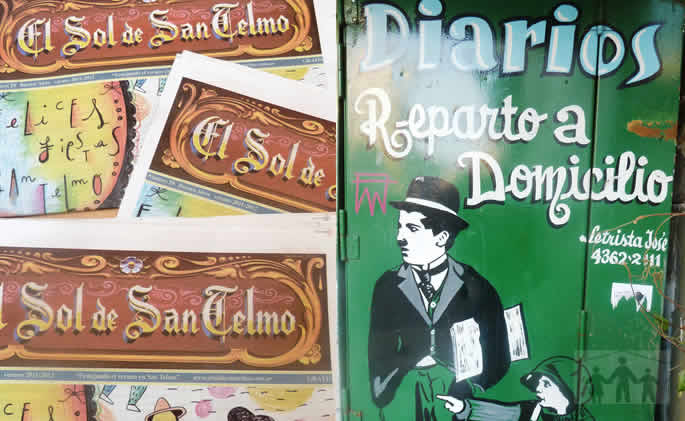 The local San Telmo in Buenos Aires, Argentina