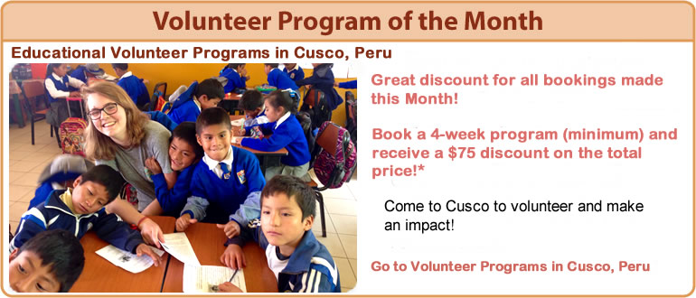 VOLUNTEER PROGRAM OF THE MONTH